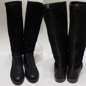 Halogen Tall Black  Leather Boots Extended Calf 5